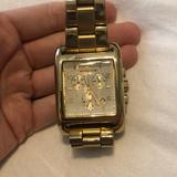 Michael Kors Accessories | Michael Kors Square Faced Gold Watch | Color: Gold | Size: Purchased One Size With 2 Links Removed