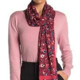 Kate Spade Accessories   Kate Spade Ditsy Oblong Scarf, Hot Pink   Color: Pink   Size: Os