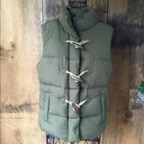 J. Crew Jackets & Coats   J.Crew Toggle Puffer Vest   Color: Green/Tan   Size: S