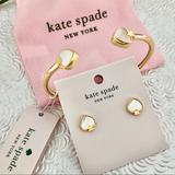 Kate Spade Jewelry | Nwt Kate Spade Signature Studs & Cuff Bracelet | Color: Gold/White | Size: Os