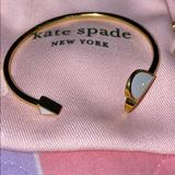 Kate Spade Jewelry | Heritage Spade Enamel Flex Cuff And Bangle | Color: White | Size: Os