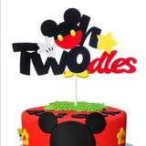 Disney Party Supplies | Nwt! Mickey Mouse Twodles 2nd Birthday Cake Topper | Color: Black/Red | Size: Os