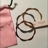Kate Spade Jewelry   Kate Spade Tri-Color Bangle Bracelet Set Of Three   Color: Gold/Silver   Size: Os