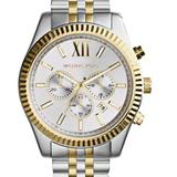Michael Kors Accessories | Michael Kors Lexington Chrono Watch $356 Mk-3844 | Color: Gold/Silver | Size: Os