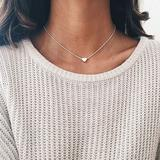 Urban Outfitters Jewelry   Dainty Heart Necklace [Silver]   Color: Silver   Size: Silver