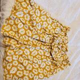 American Eagle Outfitters Skirts | Floral Print Skirt With Pockets | Color: Yellow | Size: M
