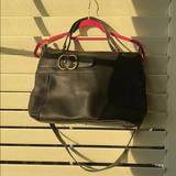 Gucci Bags | Rare Gucci Black Pebbled Calfskin Leather | Color: Black/Gold | Size: Os