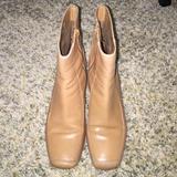 Nine West Shoes | Nine West Tan Leather Ankle Boots | Color: Tan | Size: 6.5