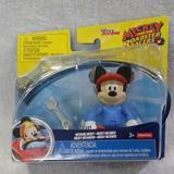 Disney Toys   Mickey And The Roadster Racers 3 Mechanic Mickey   Color: Blue/Red   Size: 3
