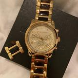 Michael Kors Jewelry   Michael Kors Gold & Brown Watch   Color: Brown/Gold   Size: Watch With Extra Link
