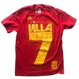 Adidas Shirts & Tops   Adidas Soccer David Villa Spain Tee Youth Medium   Color: Gold/Red   Size: Mb