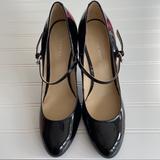 Nine West Shoes | Nine West'S Mary Jane Patent Leather 4 Heels | Color: Black | Size: 7.5