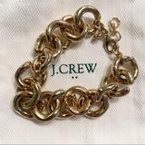 J. Crew Jewelry | J.Crew Chunky Gold Chain Bracelet | Color: Gold/Yellow | Size: Os