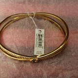 Coach Jewelry | Gold Tone Coach Bangle Bracelet | Color: Gold | Size: Os