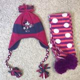 Disney Accessories | Disney Hats And Scarf | Color: Pink/Purple | Size: Osbb