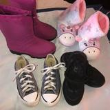 Converse Shoes   13 Converse Slippers Rainsnow Boots Mary Janes   Color: Black/Pink   Size: 13g