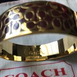 Coach Jewelry   Gold Bangle   Color: Gold   Size: Os