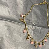 Brandy Melville Jewelry | Brandy Melville Bracelet Anklet | Color: Gold/Pink | Size: Os