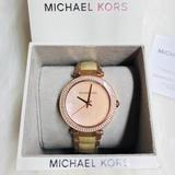 Michael Kors Accessories   Nwt Michael Kor Mother Pearl And Crystal Watch   Color: Gold/Pink   Size: Os