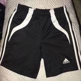Adidas Bottoms   Adidas- Unisex Soccer Shorts   Color: Black/White   Size: Medium Kids