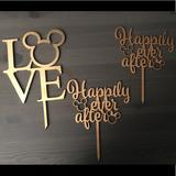 Disney Party Supplies | Disney Wedding Cake Toppers. Mickeyminnielove | Color: Gold/Tan | Size: Os