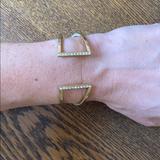 J. Crew Jewelry   J Crew Gold Bangle Bracelet   Color: Gold   Size: 2.5