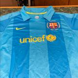 Nike Shirts & Tops | Nike Fit Dry Barcelona Soccer Polo - Youth Xl | Color: Blue | Size: Xlb
