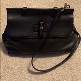Gucci Bags | Gucci Grained Leather Medium Bamboo Top Handle | Color: Black | Size: Os