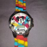 Disney Accessories | Disney Mickey Mouse Watch | Color: Blue/Red | Size: Os