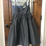 J. Crew Dresses | J. Crew Silk Babydoll Cocktail Dress | Color: Black/Gray | Size: 4
