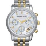 Michael Kors Accessories | Michael Kors | Chronograph Watch | Two Tone | Color: Gold/Silver | Size: Os