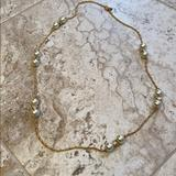J. Crew Jewelry   Jcrew Necklace Gold Pearl Chain   Color: Gold   Size: Os