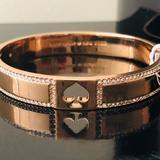 Kate Spade Jewelry   Kate Spade Hole Punch 10mm Rose Gold Bangle   Color: Gold   Size: 2.5 Diameter