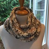 Zara Accessories   Girls Zara Infinity Knit Scarf   Color: Cream/Gray   Size: Osg