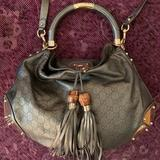 Gucci Bags | Gucci Bag: Gucci Indy Metallic Large Leather Mono | Color: Green | Size: 19.68x.98x14.96