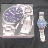 Michael Kors Accessories | Michael Kors Watch | Color: Blue/Silver | Size: Watch Has 14 Links