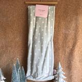 Kate Spade Holiday | Kate Spade Classic Gray Polka Dot Thro | Color: Gray/White | Size: 50x60