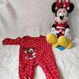 Disney One Pieces   Nwt Disney Minnie Mouse Christmas Onesie & Doll   Color: Red/White   Size: 6-9mb