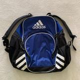 Adidas Bags | Adidas Soccer Backpack Bag! Nice Blue! Large! | Color: Black/Blue | Size: Os