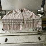 Burberry Accessories | Burberry Pink Plaid Checkered Cashmere Scarf | Color: Blue/Pink | Size: Os