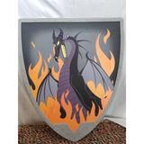 Disney Costumes | Disney Maleficient Dragon Foam Cosplay Shield | Color: Black/Gray | Size: Osb