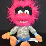 Disney Toys   Disney Muppet Babies Animal Drummer Plush Doll Toy   Color: Orange/Pink   Size: Osb