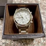 Michael Kors Accessories | Mk Women'S Blair Chronograph Silver Watch | Color: Silver | Size: Os