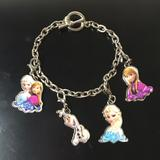 Disney Jewelry   Disney Frozen Charm Bracelet Elsa Anna Olaf   Color: Silver   Size: Os