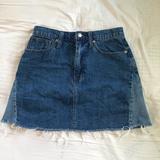 Madewell Skirts | Madewell Rigid Denim A-Line Mini Skirt | Color: Blue | Size: 27