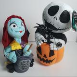 Disney Toys | Disney Poseable Jack And Sally Plush Music New | Color: Black/Purple | Size: Osb