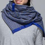 Lululemon Athletica Accessories | Lululemon Vinyasa Reversible Scarf Parallel Stripe | Color: Blue/Gray | Size: Os