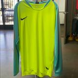 Nike Shirts | Nike Goalie Goalkeeper Soccer Jersey | Color: Yellow | Size: L