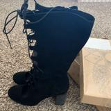 Free People Shoes | Carly Lace Up Cutout Free People Boots | Color: Black | Size: 9