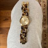 Michael Kors Accessories | Michael Kors Tortoise And Gold Watch | Color: Brown/Gold | Size: Os